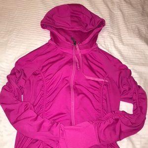Athleta Tops - Athleta Pink Circuit Zip-Up Hoodie Medium